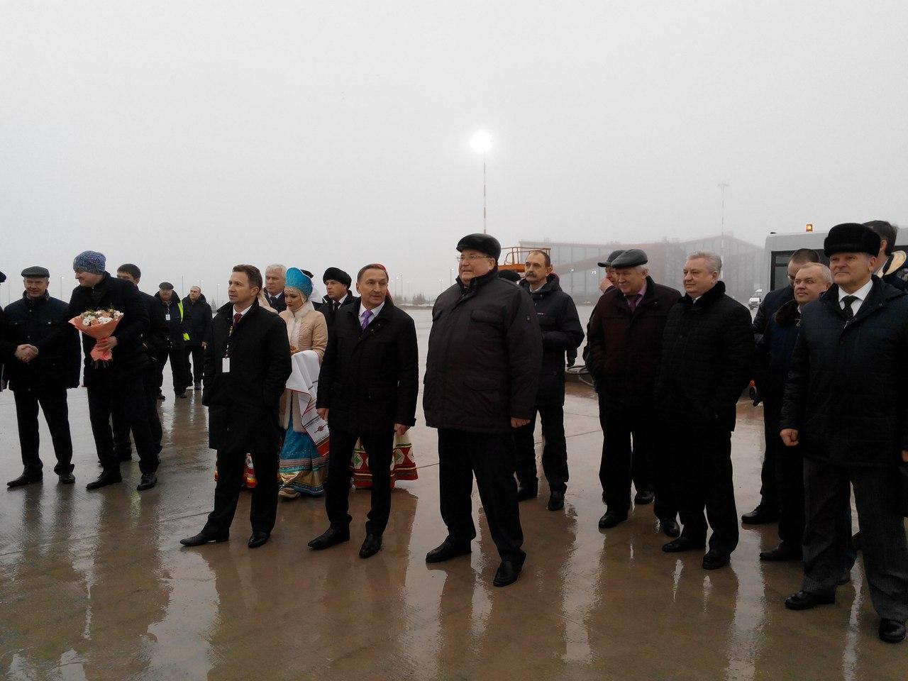 Аэропорт Саранска удачно  принял 1-ый  тестовый рейс
