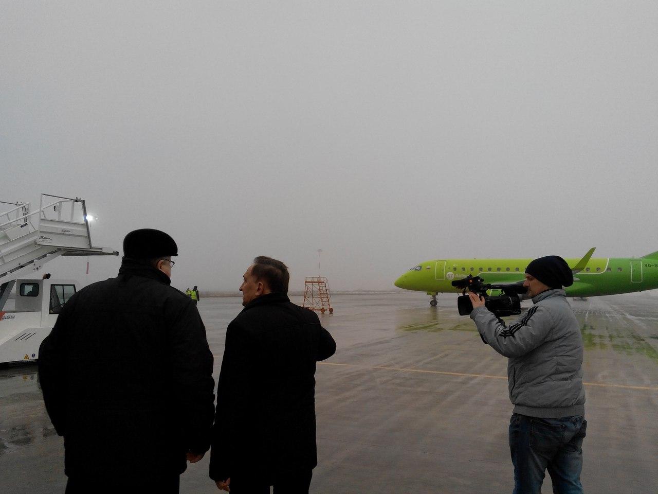 ВСаранске модернизированный аэропорт принял тестовый рейс